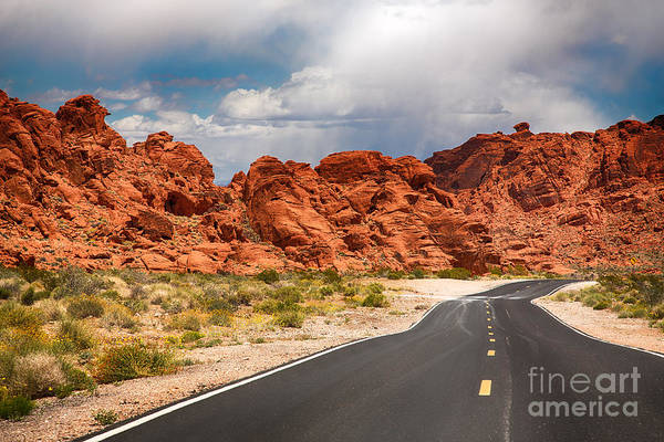 Winding Roads Photograph - The Road To The Valley Of Fire by Jane Rix