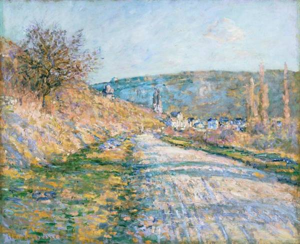 Vetheuil Wall Art - Painting - The Road To Vetheuil by Claude Monet