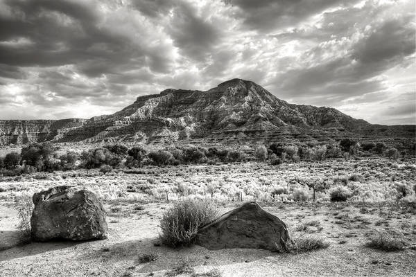 Wall Art - Photograph - The Road To Zion In Black And White by Tammy Wetzel