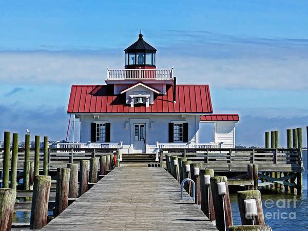 Roanoke Marshes Light Wall Art - Photograph - The Roanoke Marshes Lighthouse  by Dawn Gari
