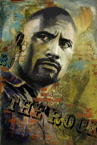Dwayne Johnson Wall Art - Painting - The Rock by Corporate Art Task Force