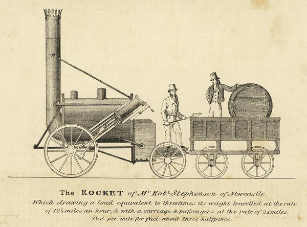 Rockets Drawing - The 'rocket' As It Took Part by Mary Evans Picture Library