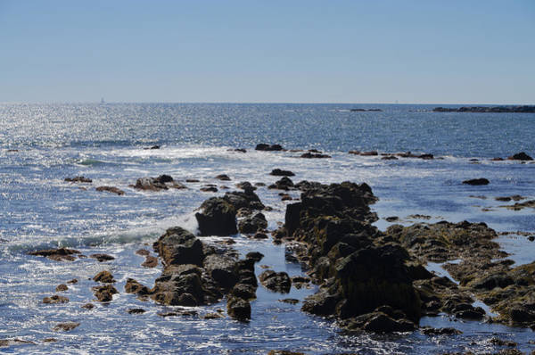 Photograph - The Rocky Coast Of New Port Rhode Island by Bill Cannon