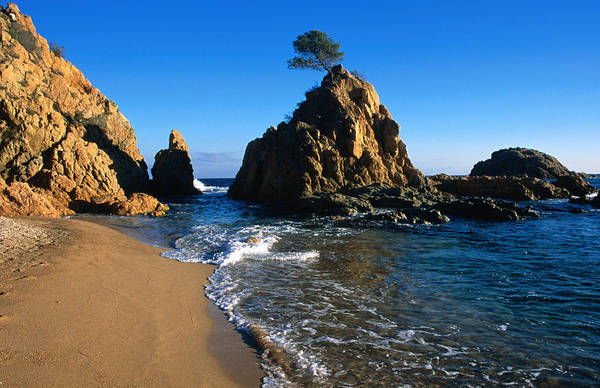 Moberly Photograph - The Rocky Shoreline Of The Beach by Guy Moberly