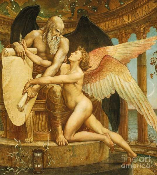 Time Frame Wall Art - Painting - The Roll Of Fate by Walter Crane
