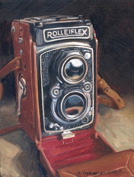 Camera Painting - The Rolleiflex by Marguerite Chadwick-Juner