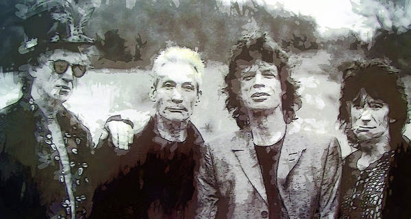 Richard Digital Art - The Rolling Stones by Daniel Hagerman