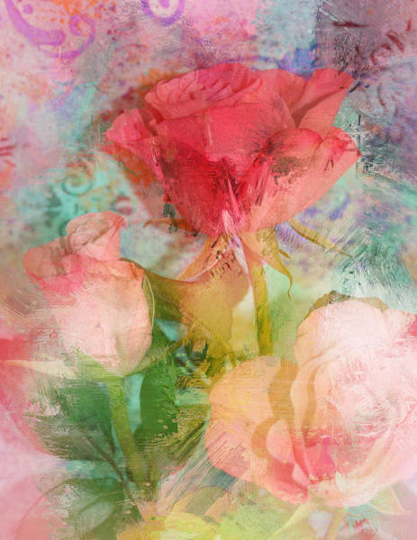 Chartreuse Photograph - The Romance Of Roses by Carla Parris