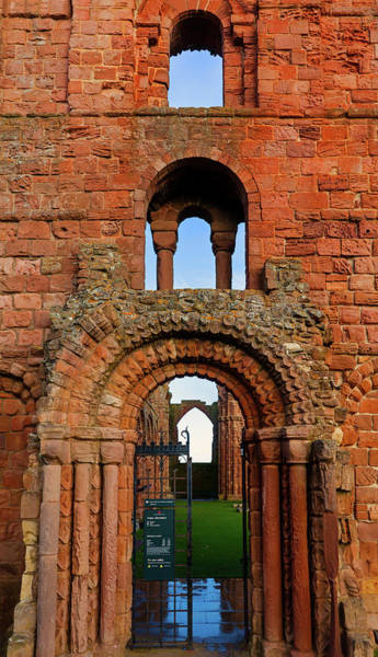 Berwick Upon Tweed Photograph - The Romanesque Doorway In The Monastery by Panoramic Images