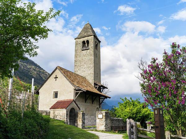 Mural Photograph - The Romanic Little Church Of Sankt by Martin Zwick