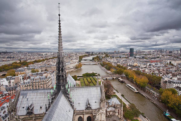 Paris Rooftop Photograph - The Rooftops Of Paris From Notre Dame by Julian Elliott Photography