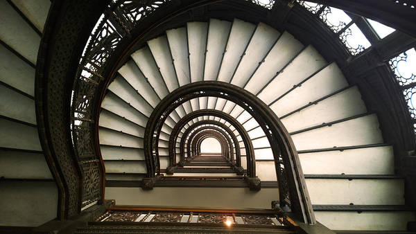 Photograph - The Rookery Staircase Lasalle St Chicago Illinois by Kelly Hazel