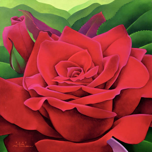 Wall Art - Painting - The Rose by Myung-Bo Sim