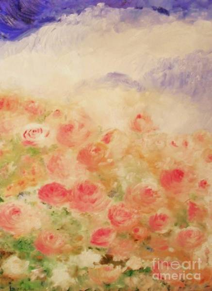 Painting - The Rose Bush by Laurie Lundquist