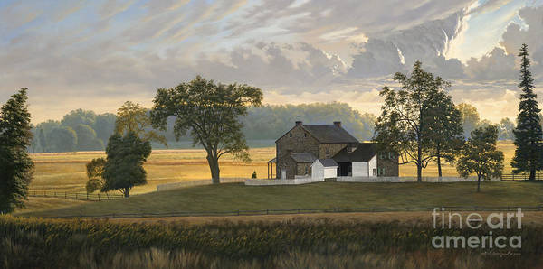 Gettysburg Battlefield Wall Art - Painting - The Rose Farm Gettysburg by David Henderson