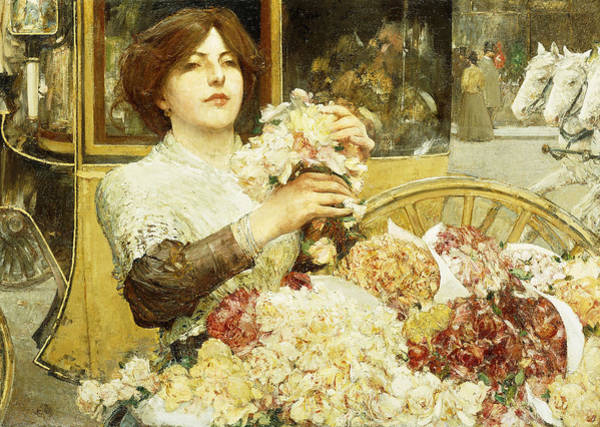Painting - The Rose Girl by Childe Hassam