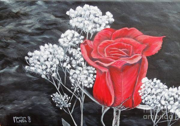 Painting - The Rose by Marilyn  McNish