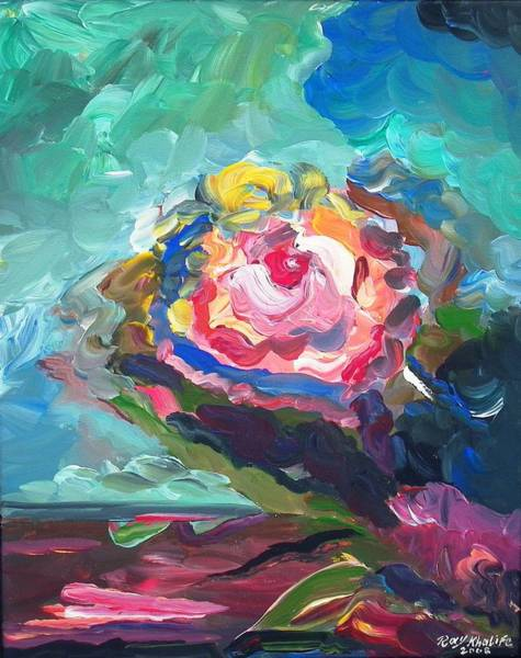 Painting - The Rose by Ray Khalife