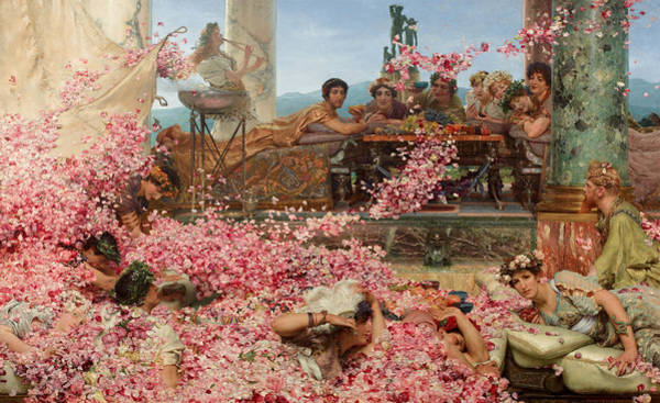 Wall Art - Painting - The Roses Of Heliogabalus by Sir Lawrence Alma-Tadema