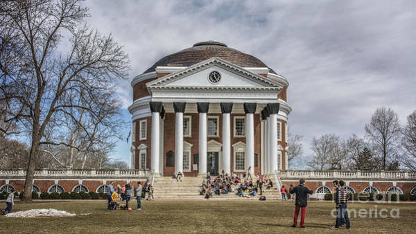 Photograph - The University Of Virginia Rotunda by Terry Rowe