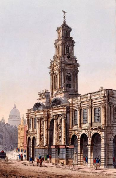 Building Drawing - The Royal Exchange, 1816 by Rudolph Ackerman