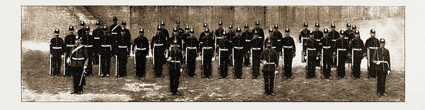 Royal Artillery Wall Art - Drawing - The Royal Guernsey Militia The Detachment In London by Litz Collection