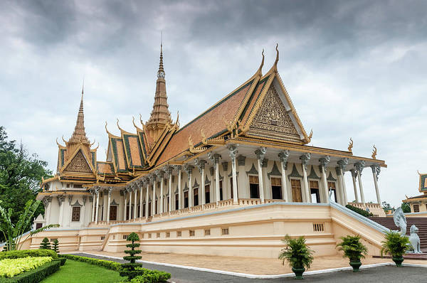 Cambodian Photograph - The Royal Palace And Silver Pagoda In by Tbradford