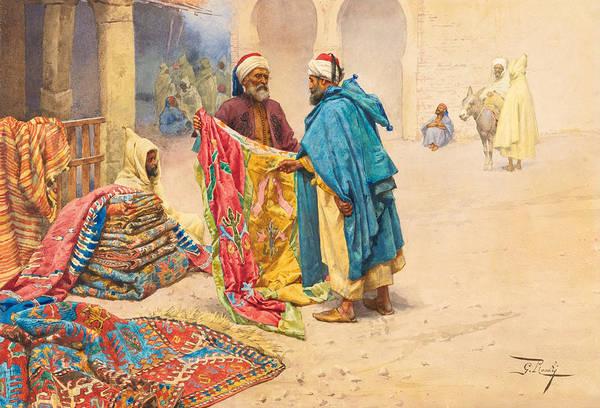 Giulio Painting - The Rug Merchant by Giulio Rosati