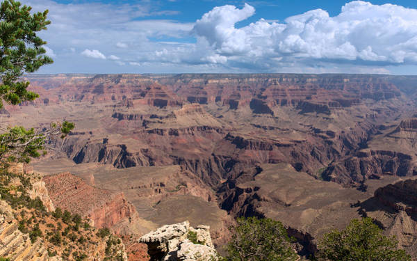 Photograph - The Rugged Terrain Of The Grand Canyon by John M Bailey