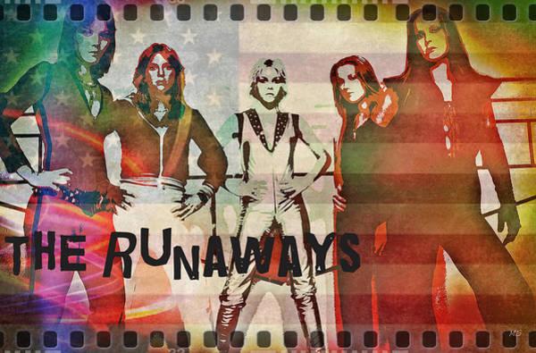 Wall Art - Digital Art - The Runaways - 1977 by Absinthe Art By Michelle LeAnn Scott