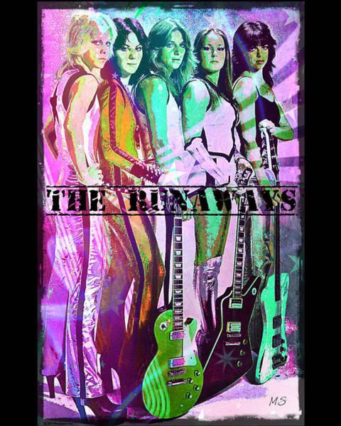 Wall Art - Digital Art - The Runaways by Absinthe Art By Michelle LeAnn Scott