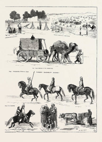 Wall Art - Drawing - The Russian Expedition To Khiva by English School