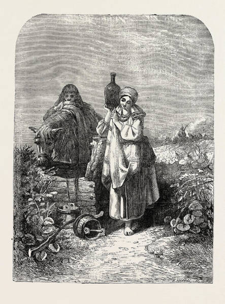 Wall Art - Drawing - The Russian Serf by Jenkins, Joseph John (1811-1885), British