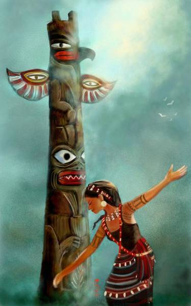 Tribal Dance Digital Art - The Sacred Dream by Ratika Puri