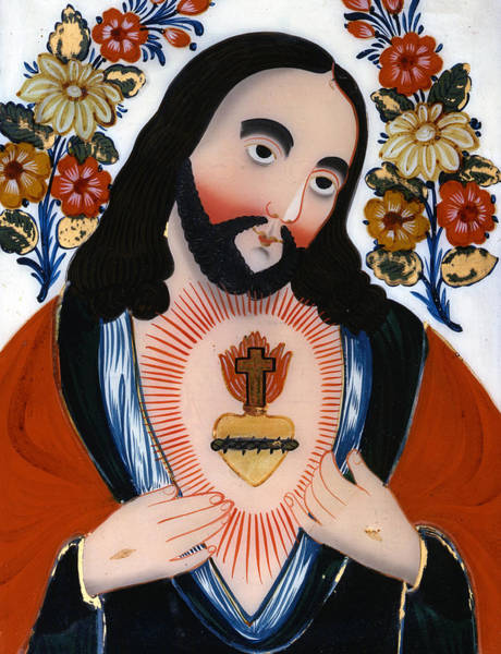Church Of The Cross Painting - The Sacred Heart by Hungarian School