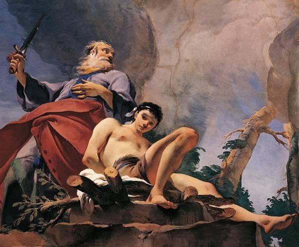 Sacrifice Painting - The Sacrifice Of Isaac by Giovanni Battista Tiepolo