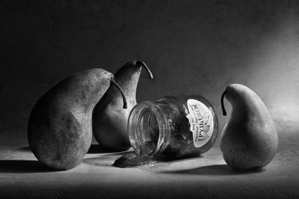 Pears Wall Art - Photograph - The Sad Farewell/ The 3rd Part Of The Jam Triptych by Victoria Ivanova
