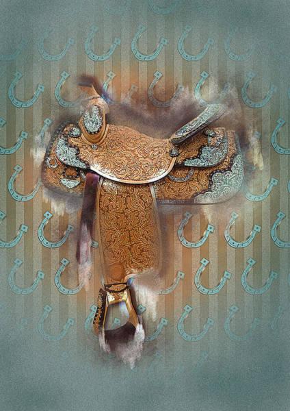 Horseshoe Digital Art - The Saddle 3 by Graphicsite Luzern