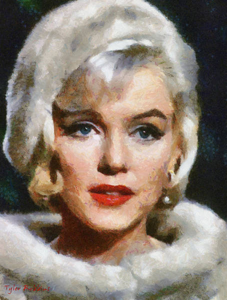 Painting - The Sadness Of Marilyn by Tyler Robbins