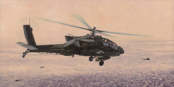 Attack Painting - The Sadr City Flying Club by Wade Meyers