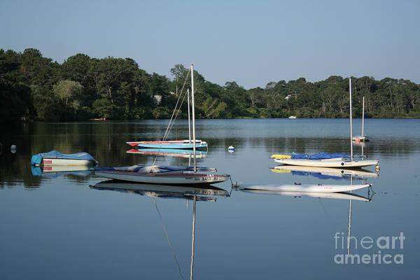 Encounter Bay Photograph - The Sailboats At Great Pond by John Turek