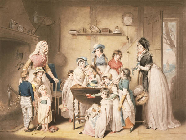 Poverty Wall Art - Drawing - The Sailors Orphans, Or The Young by William Redmore Bigg