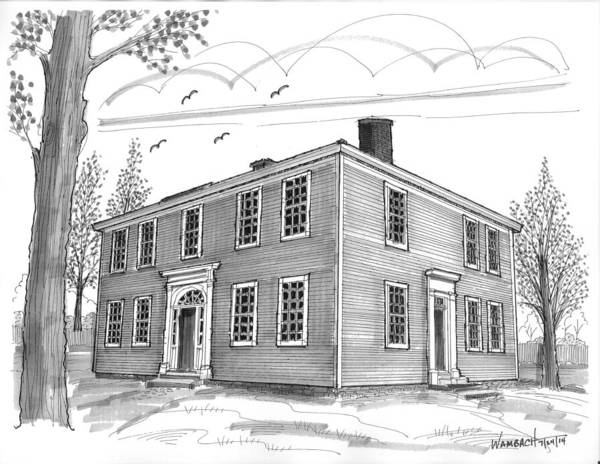 Drawing - The Samuel Read Hall House by Richard Wambach