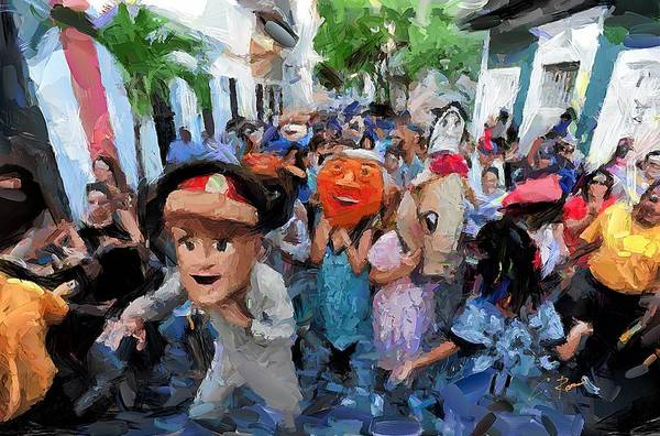 Digital Art - The San Sebastian Street Festival by Charlie Roman