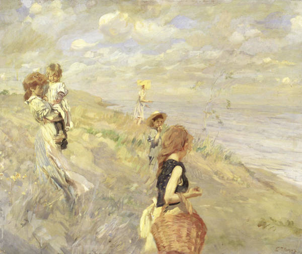 Wicker Wall Art - Painting - The Sand Dunes by Ettore Tito