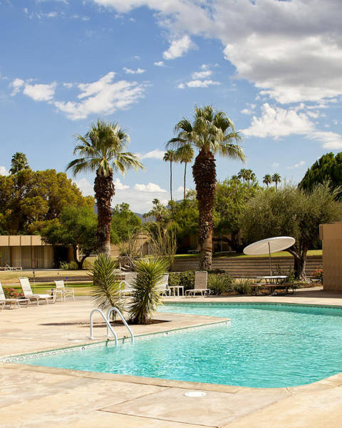 Wall Art - Photograph - The Sandpiper Pool Palm Desert by William Dey