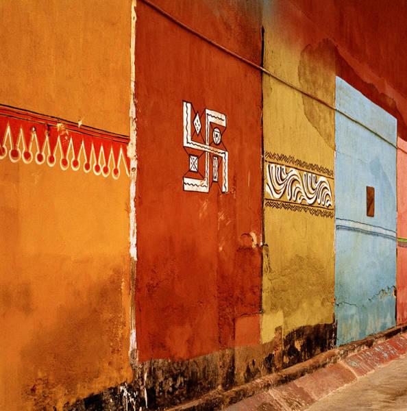 Kerala Mural Photograph - The Symbolism Of India by Shaun Higson