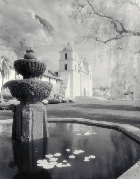 Misson Photograph - The Santa Barbara Mission by Jerry McElroy