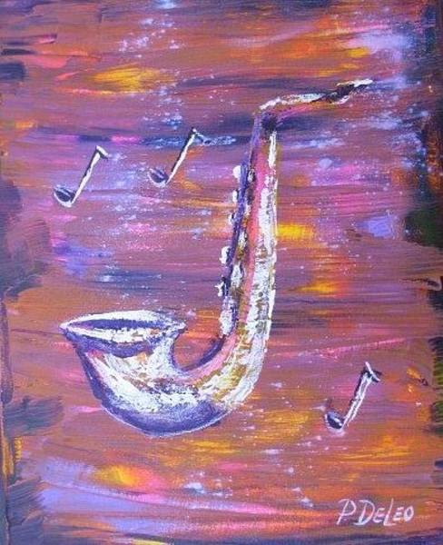 Sax Painting - The Sax by Pete DeLeo
