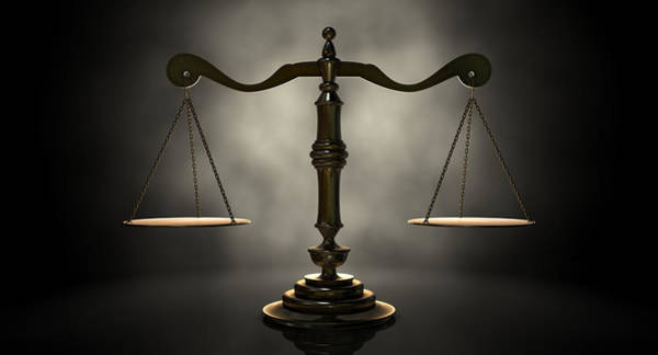 Measure Wall Art - Digital Art - The Scales Of Justice by Allan Swart